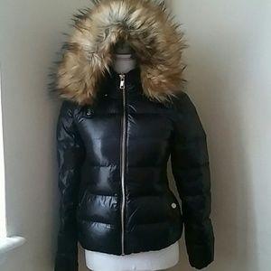 Zara Woman shiny puffer down jacket sz XS